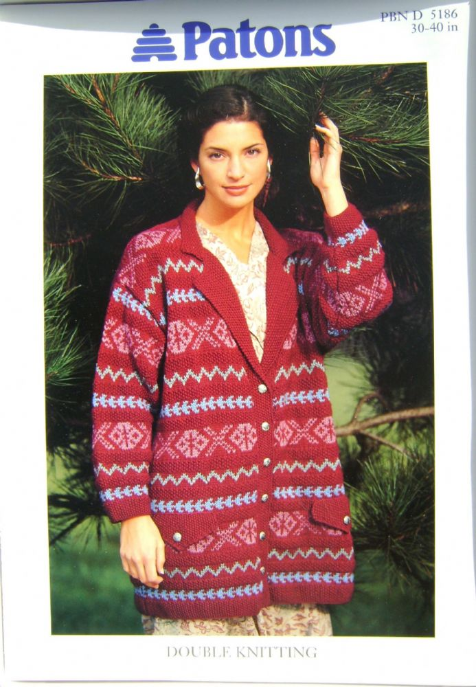 Patons Knitting Pattern 5186